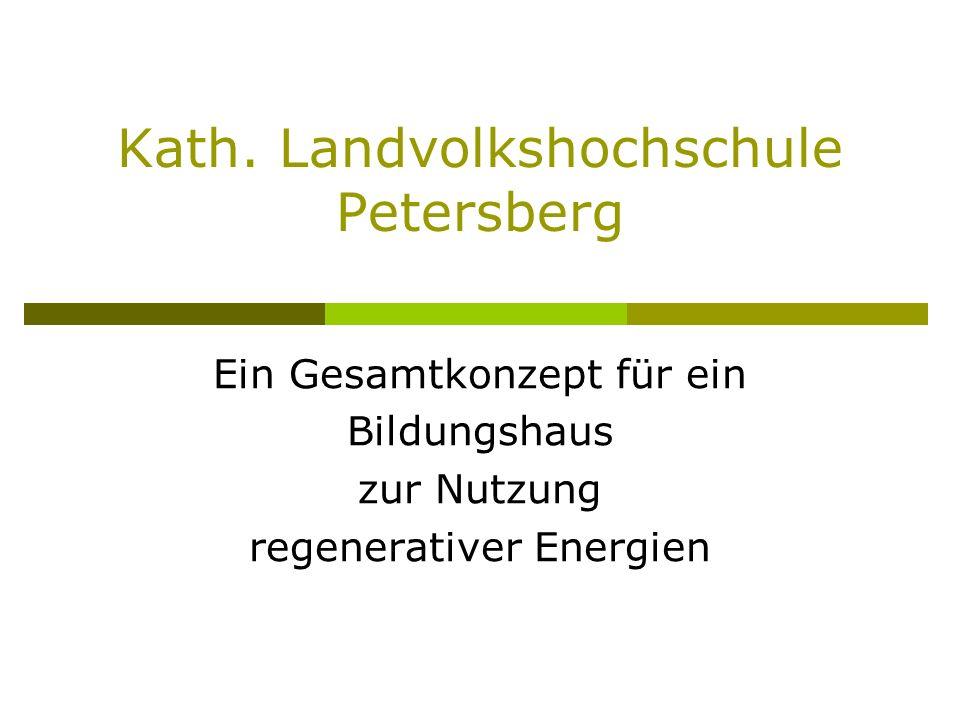 Kath. Landvolkshochschule Petersberg Ein Gesamtkonzept für ein Bildungshaus zur Nutzung regenerativer Energien