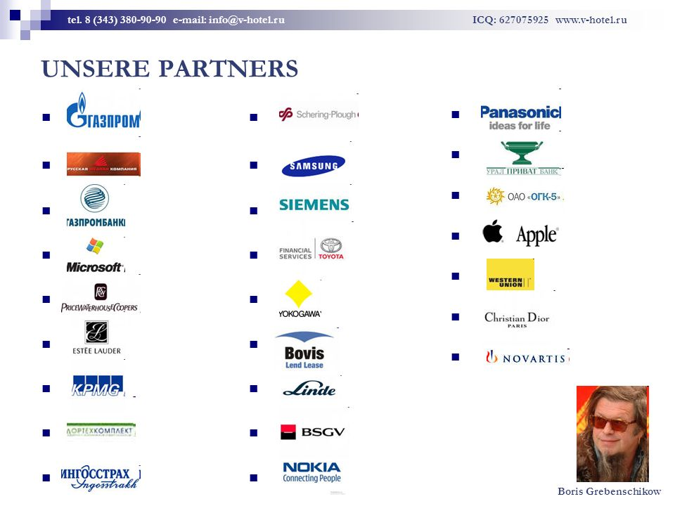 UNSERE PARTNERS tel.