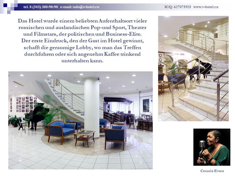 Das Hotel wurde einem beliebten Aufenthaltsort vieler russischen und auslandischen Pop-und Sport, Theater und Filmstars, der politischen und Business-