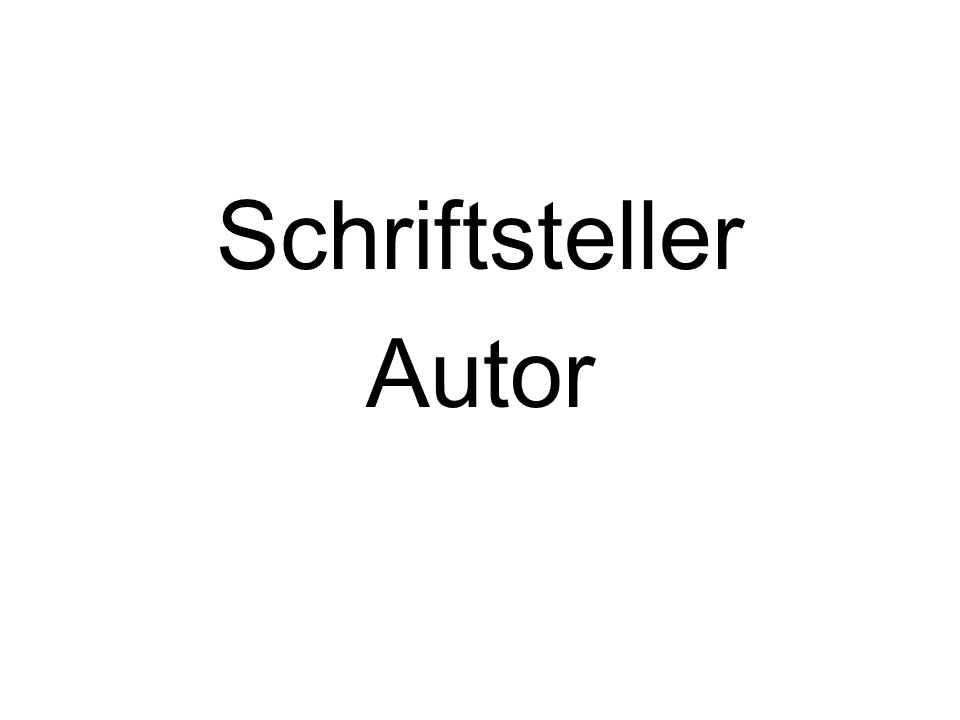 Schriftsteller Autor