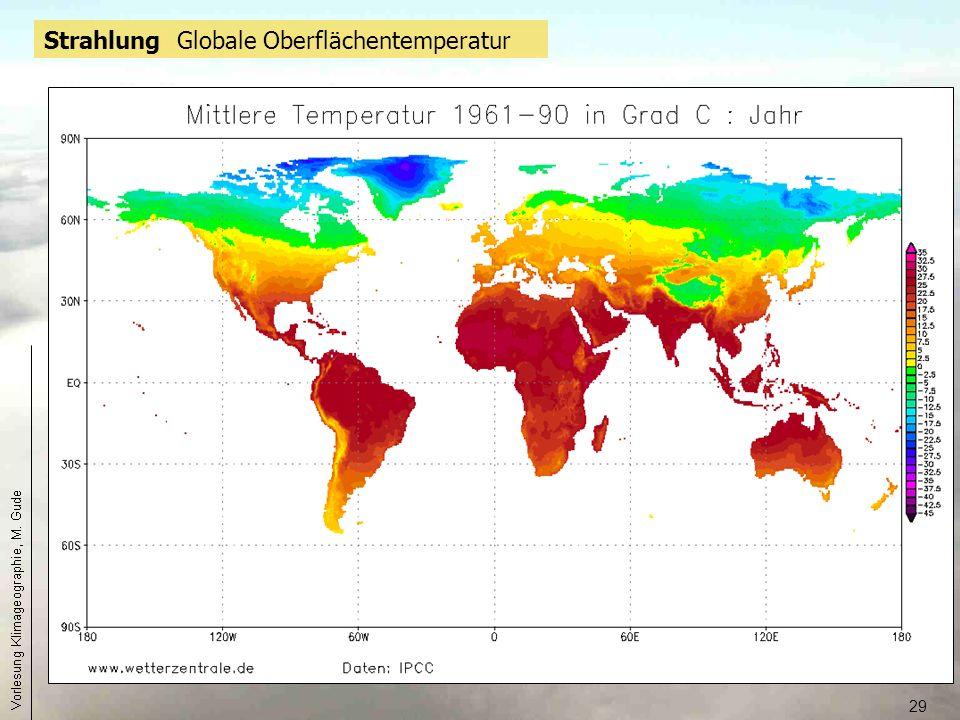 29 Strahlung Globale Oberflächentemperatur