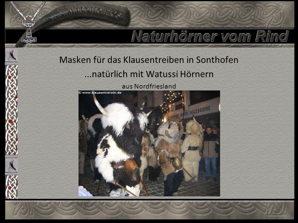 Masken für das Klausentreiben in Sonthofen...natürlich mit Watussi Hörnern aus Nordfriesland