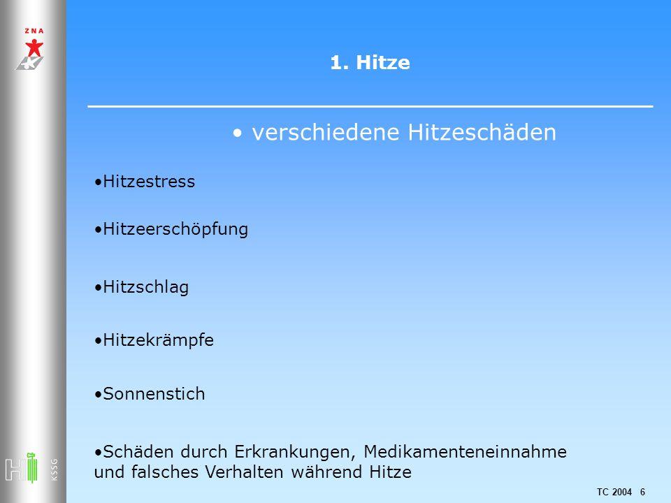 TC 2004 77 3.Sonnenstrahlen und Haut 8 Tipps 1. Gemäss Hauttyp maximale Aufenthaltsdauer kennen 2.