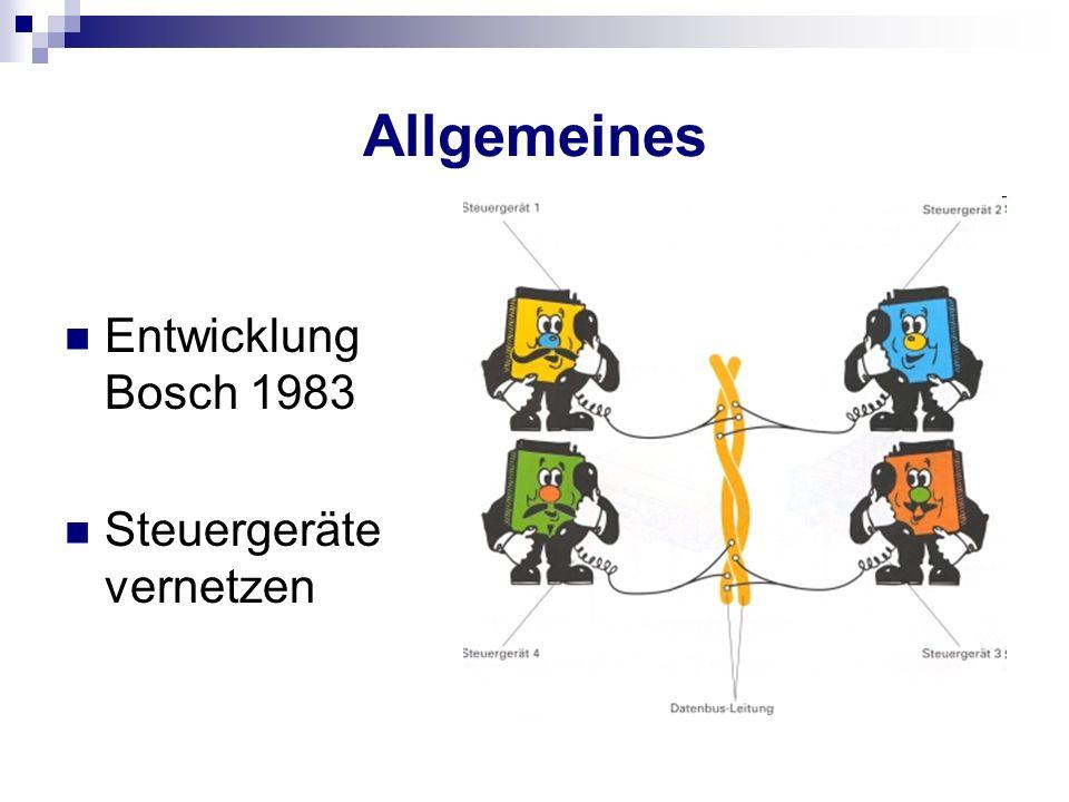 Allgemeines Entwicklung Bosch 1983 Steuergeräte vernetzen