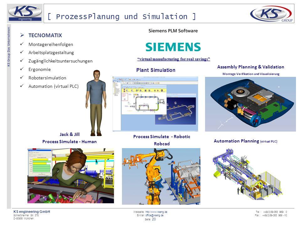 Webseite: http://www.kseng.de E-Mail: office@kseng.de Seite: 20 KS engineering GmbH Schleißheimer Str. 375 D-80935 München KS Group Das Unternehmen Te