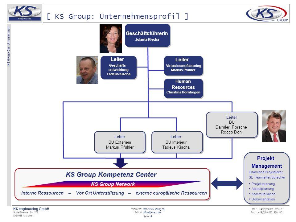 Webseite: http://www.kseng.de E-Mail: office@kseng.de Seite: 5 KS engineering GmbH Schleißheimer Str.