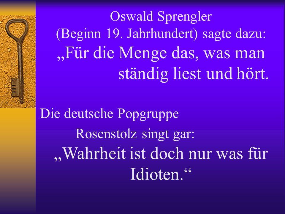 Oswald Sprengler (Beginn 19.