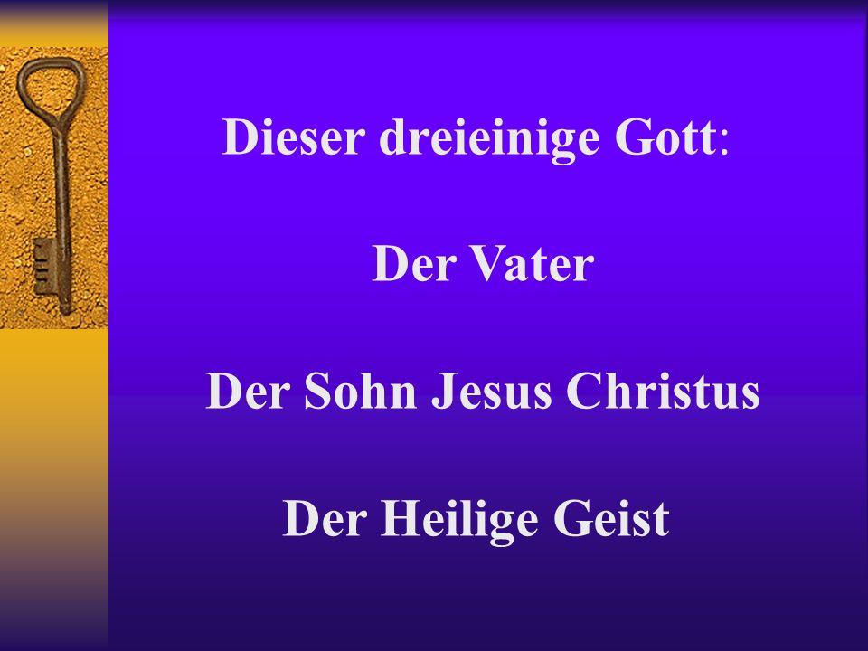 Dieser dreieinige Gott: Der Vater Der Sohn Jesus Christus Der Heilige Geist