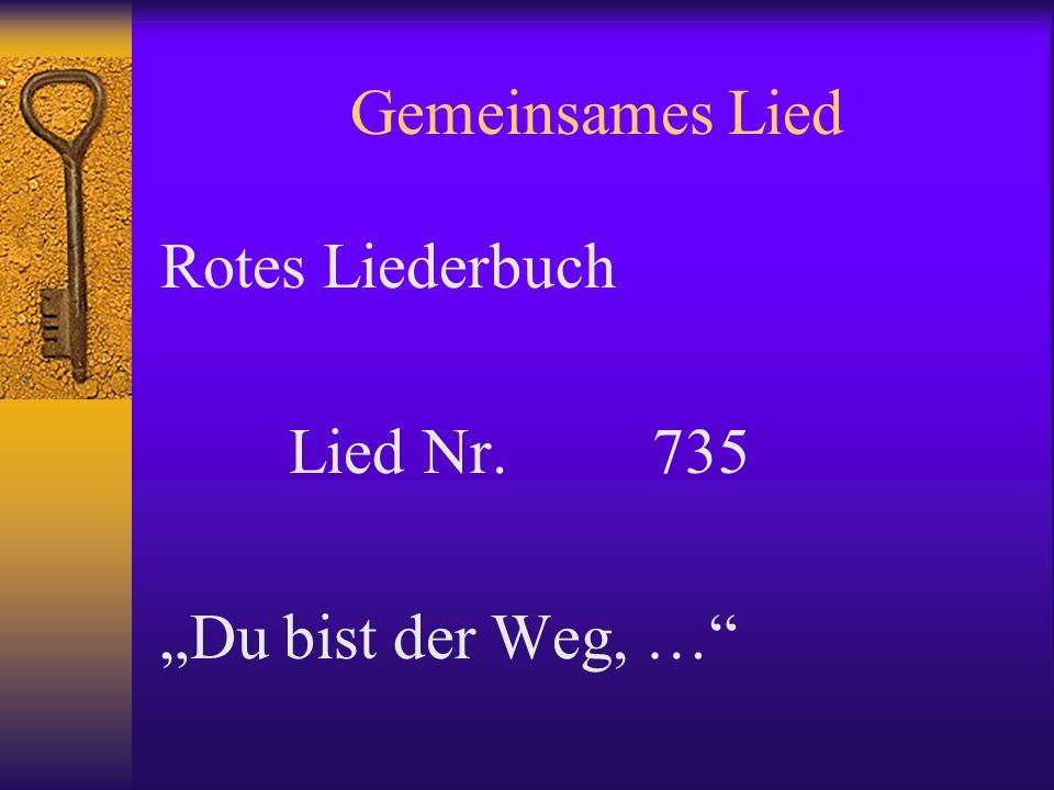 Gemeinsames Lied Rotes Liederbuch Lied Nr. 735 Du bist der Weg, …