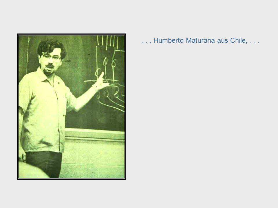In den späten 1960er Jahren haben Kybernetiker wie der Österreicher Heinz von Foerster in den USA... Heinz Von Foerster