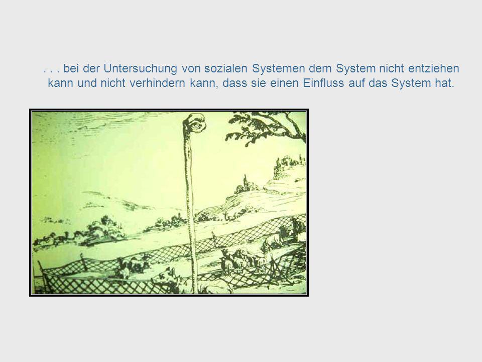 Wenn kybernetische Prinzipien auf soziale Systeme angewandt werden muss die Rolle der Beobachterin des Systems beachtet werden, die sich...