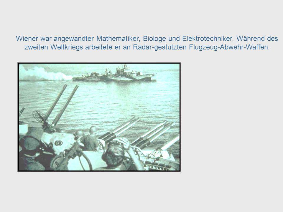 Das Wort wurde 1948 von Norbert Wiener geprägt und als eine Wissenschaft definiert. Er wurde 1894 geboren und lebte bis 1964. Als Vater der Kybernetik