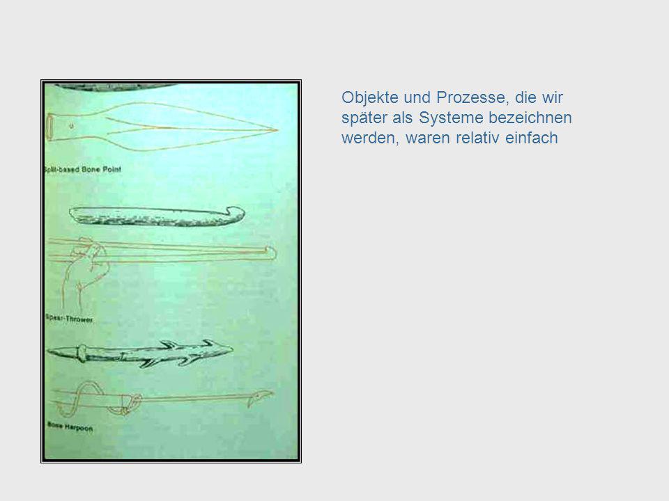 Objekte und Prozesse, die wir später als Systeme bezeichnen werden, waren relativ einfach Objects & Processes