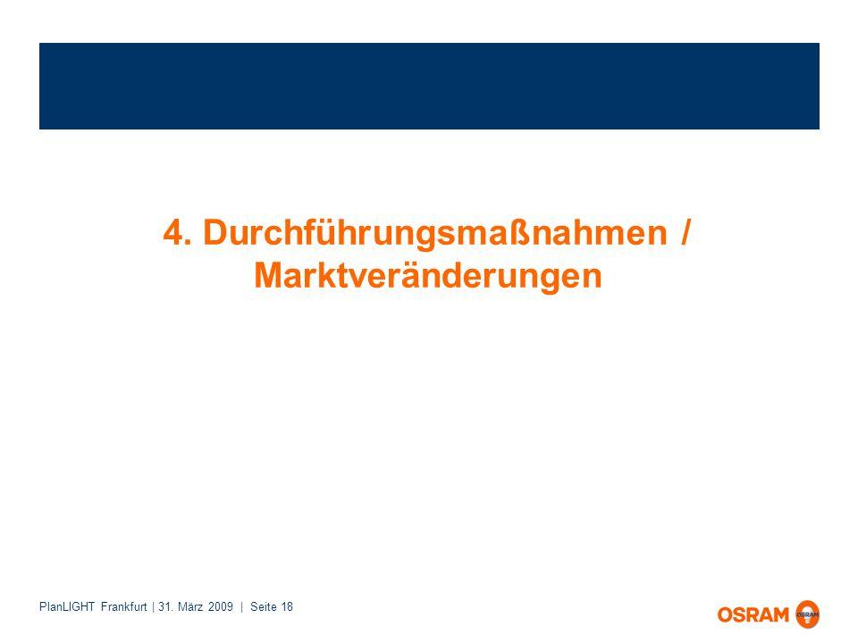 PlanLIGHT Frankfurt | 31. März 2009 | Seite 18 4. Durchführungsmaßnahmen / Marktveränderungen