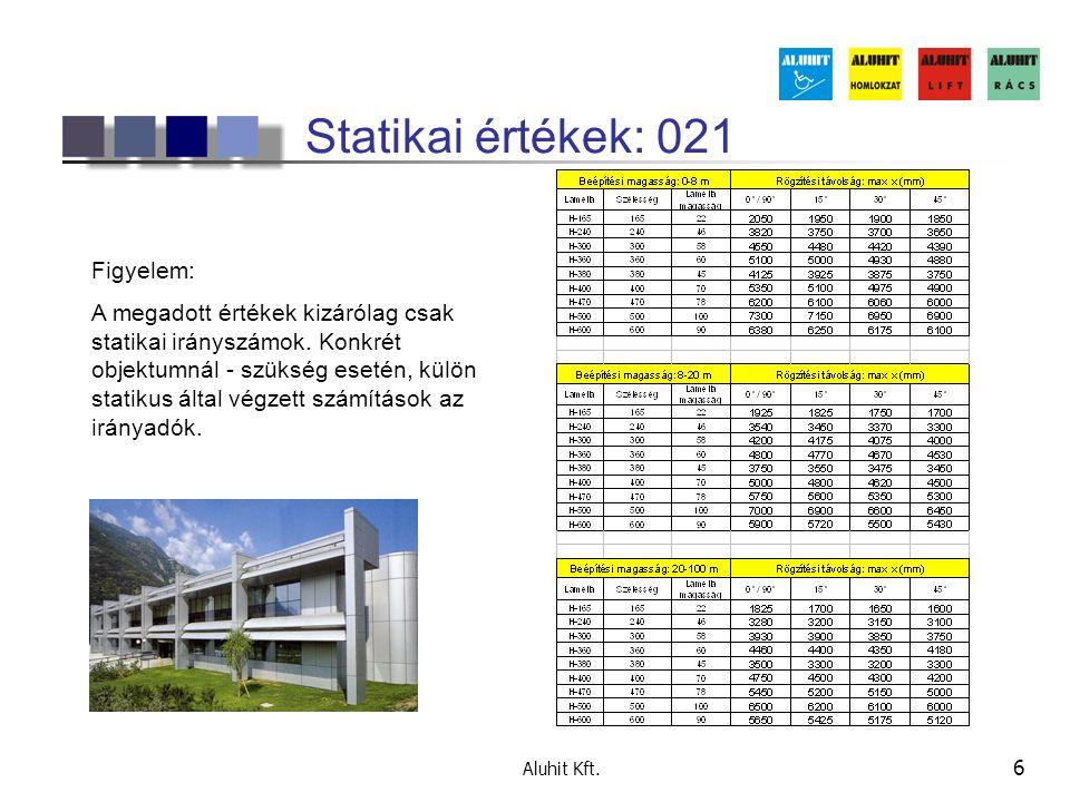 Aluhit Kft. 17 Referenzobjekte 021 BV. Günther, Darmstadt Lamella: H-240, fix