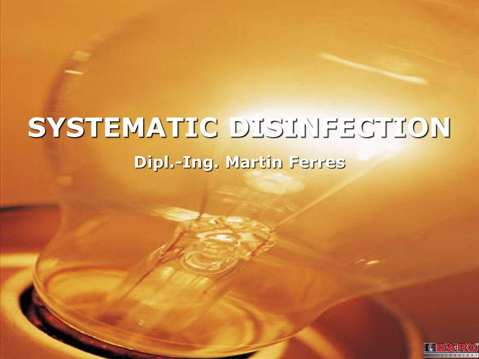 Seite 22 Martin Ferres, Seite 22 IP 65 compact lamp – surface disinfection Campina Milchwerke Direkte Bestrahlung der Aluminiumfolie auf der Unterseite.