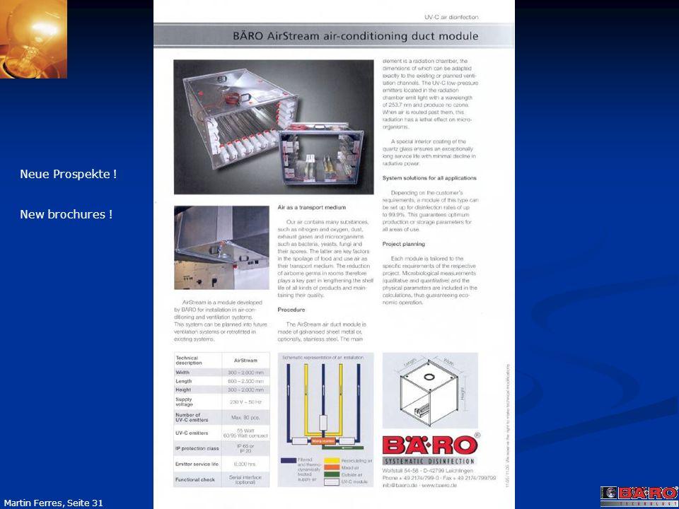 Seite 31 Martin Ferres, Seite 31 Neue Prospekte ! New brochures !