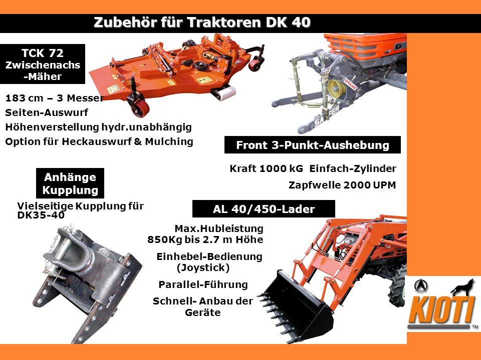 Anhänge Kupplung Zubehör für Traktoren DK 40 Vielseitige Kupplung für DK35-40 Front 3-Punkt-Aushebung Kraft 1000 kG Einfach-Zylinder Zapfwelle 2000 UP