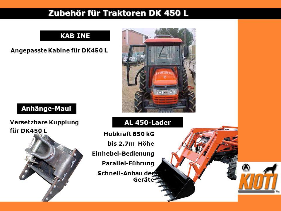 Anhänge-Maul Zubehör für Traktoren DK 450 L Versetzbare Kupplung für DK450 L AL 450-Lader Hubkraft 850 kG bis 2.7m Höhe Einhebel-Bedienung Parallel-Fü