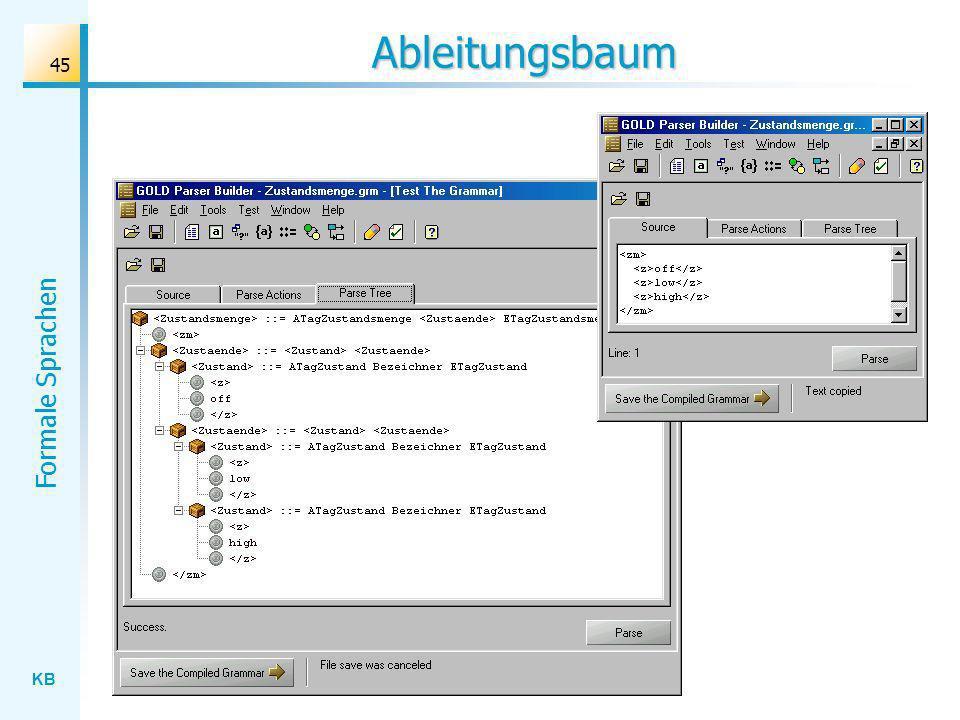 KB Formale Sprachen 45 Ableitungsbaum