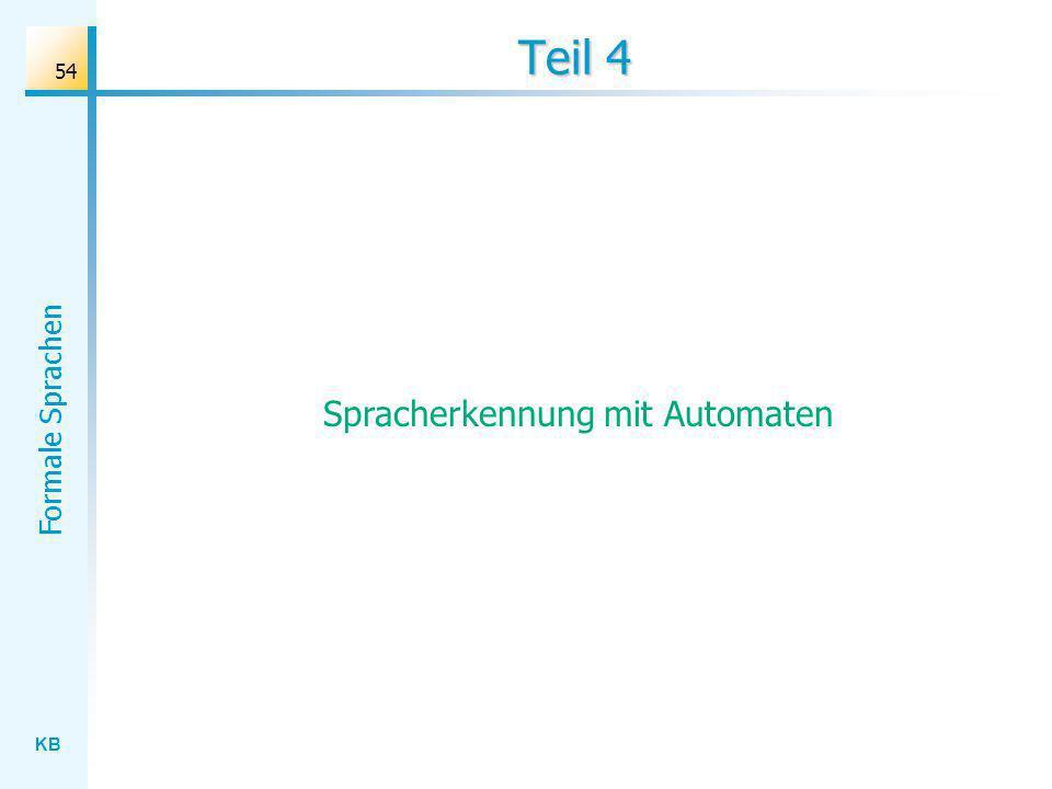 KB Formale Sprachen 54 Teil 4 Spracherkennung mit Automaten