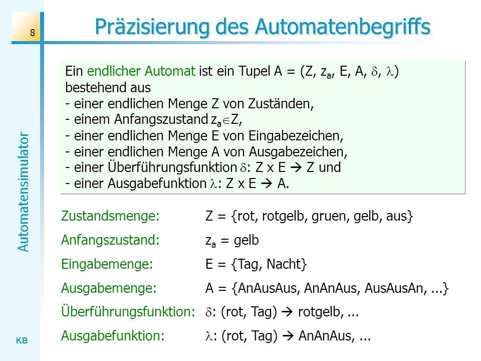KB Automatensimulator 19 Vereinfachte Automatenbeschreibung rot rotgelb...