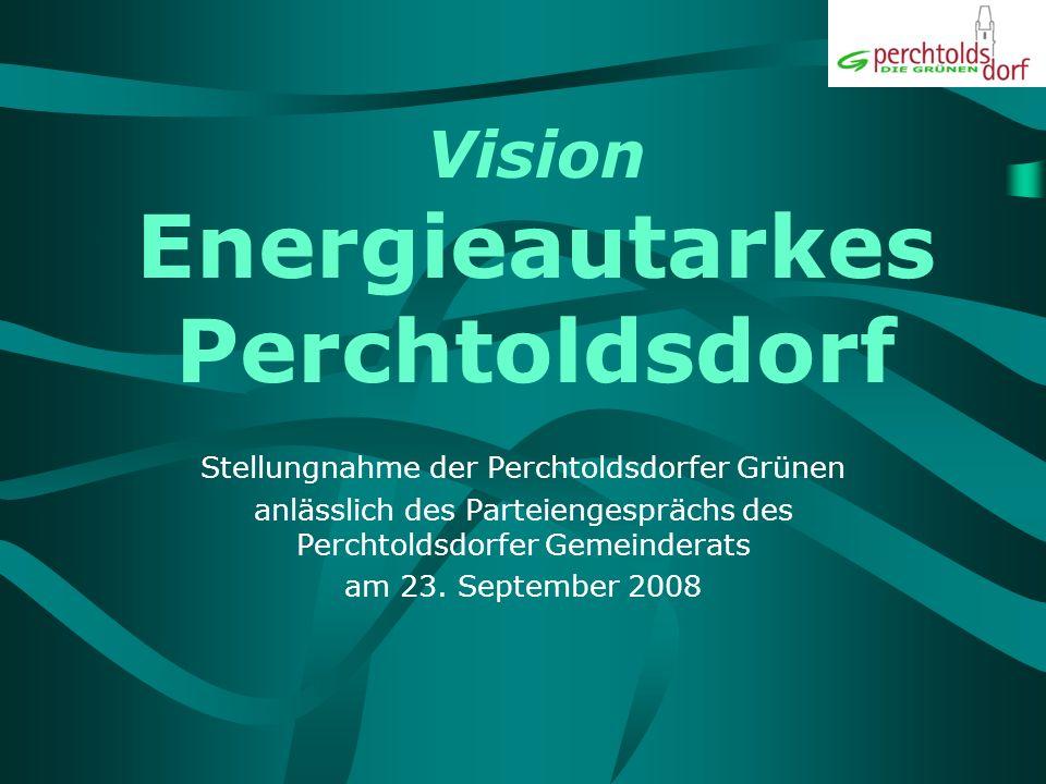 Inhalt Was heißt energieautark.Was heißt Perchtoldsdorf.
