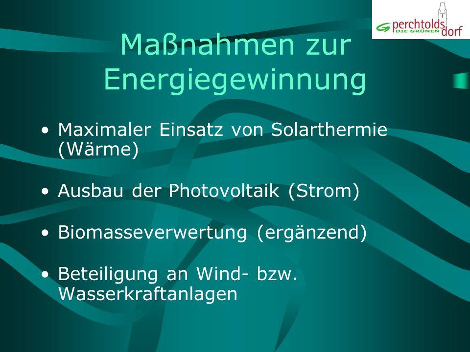 Finanzierung Energiespar-Contracting Beteiligungsmodelle, Stichwort: Energiepool Perchtoldsdorf EU-, Bundes- und Landesförderungen