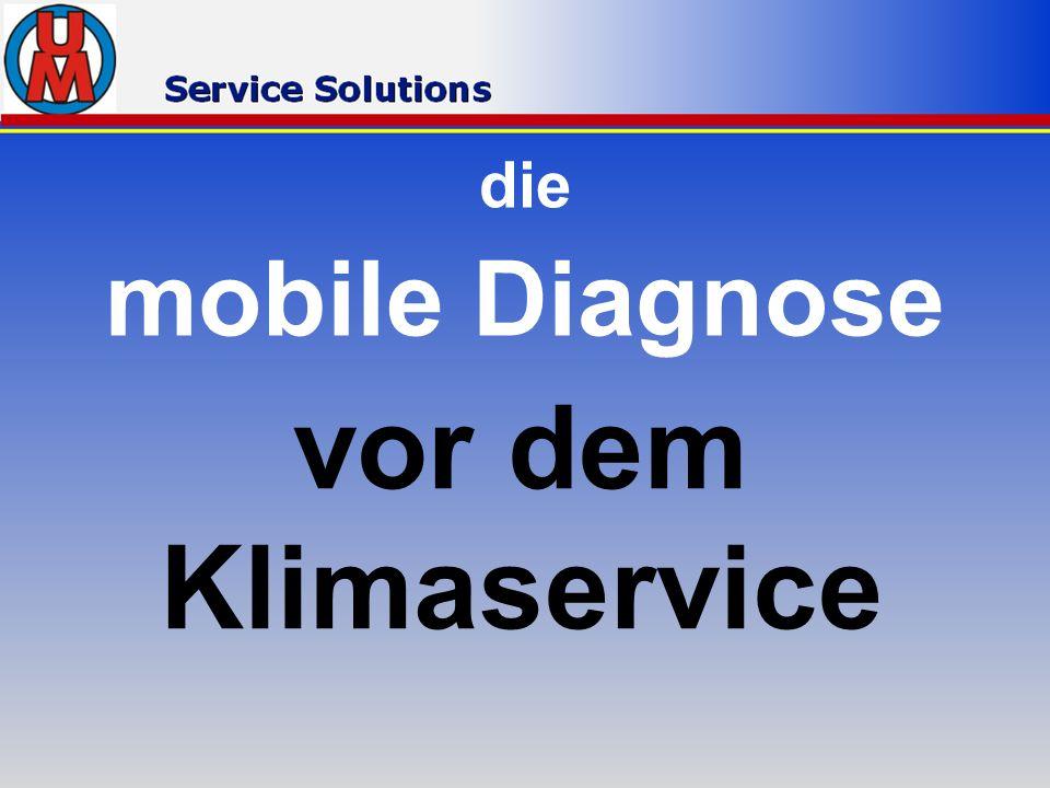 die mobile Diagnose vor dem Klimaservice