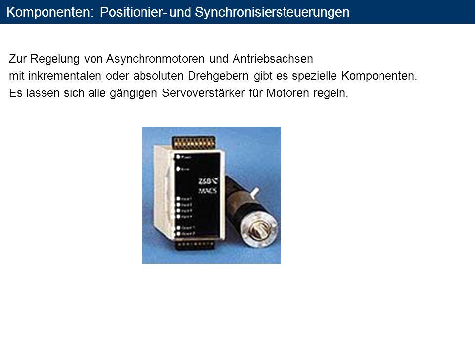 Komponenten: Positionier- und Synchronisiersteuerungen Zur Regelung von Asynchronmotoren und Antriebsachsen mit inkrementalen oder absoluten Drehgeber