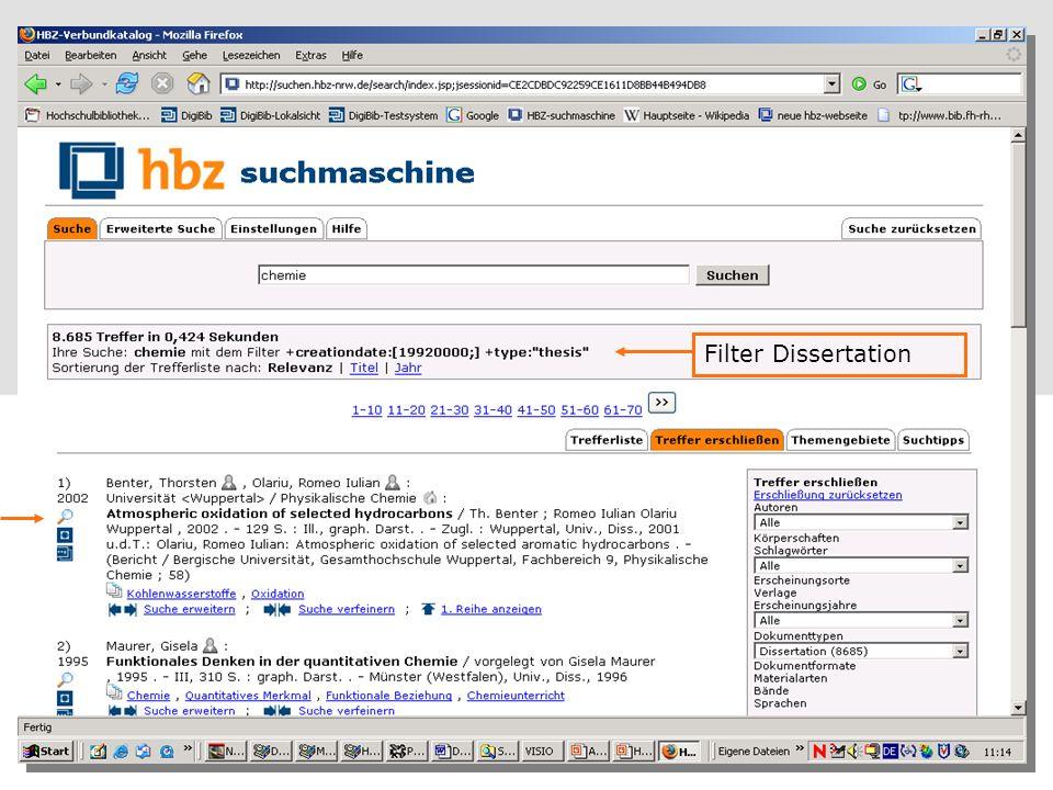 Filter Dissertation