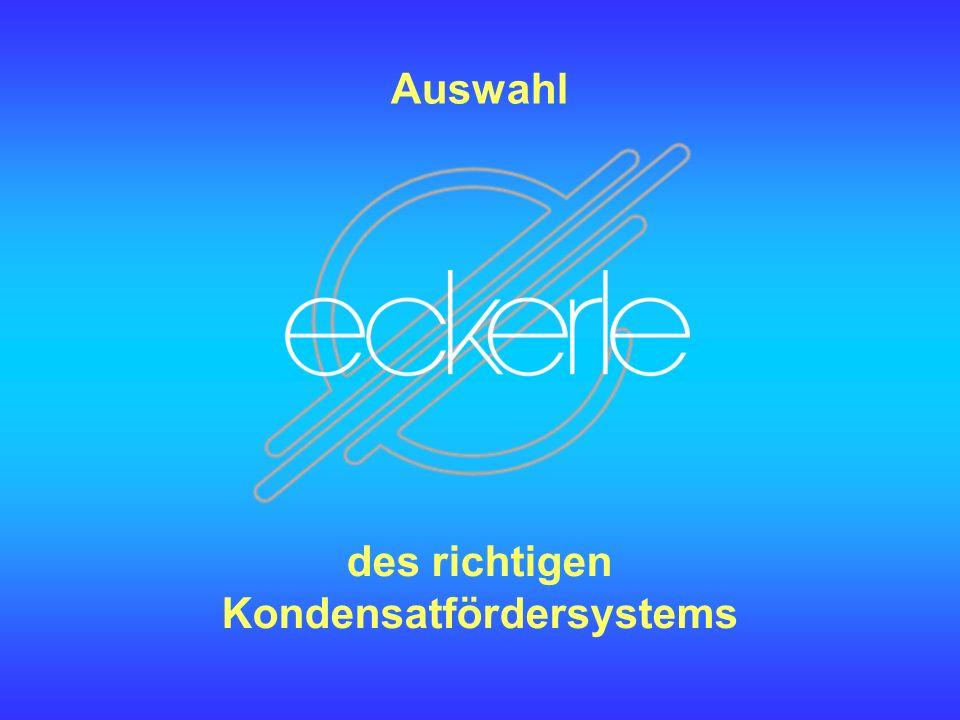 Auswahl des richtigen Kondensatfördersystems