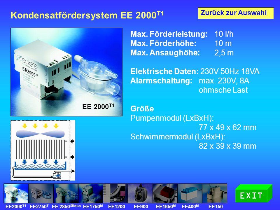 Kondensatfördersystem EE 2000 T1 Max.Förderleistung: 10 l/h Max.