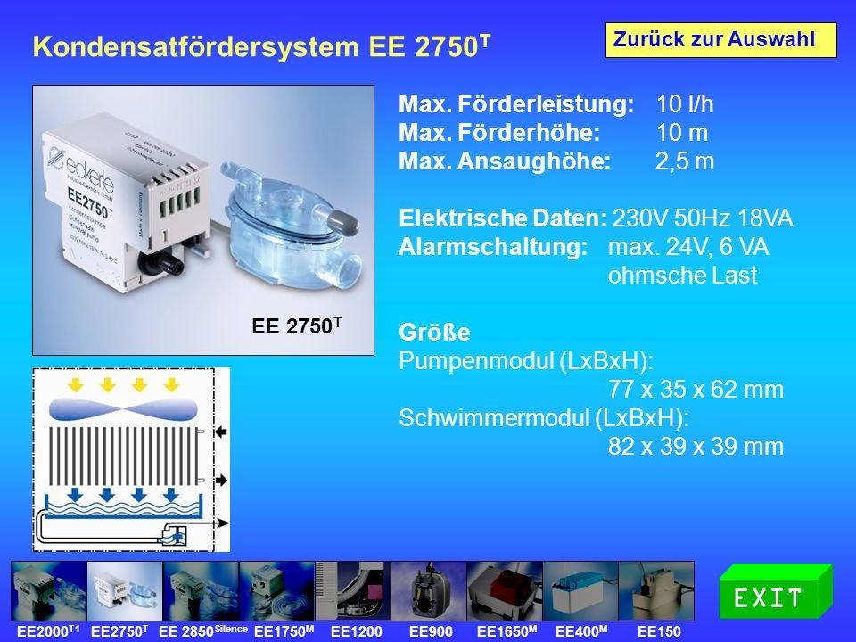Kondensatfördersystem EE 2750 T Max. Förderleistung: 10 l/h Max.