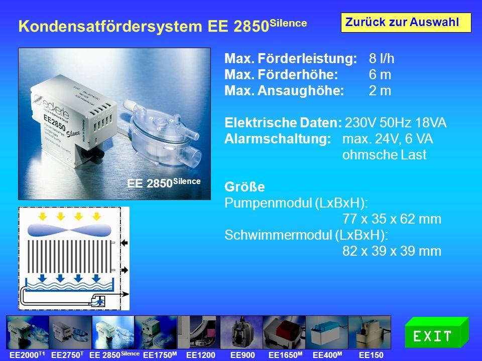 Kondensatfördersystem EE 2850 Silence Max.Förderleistung: 8 l/h Max.