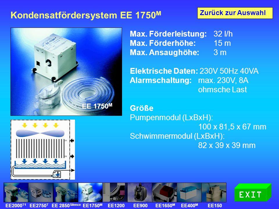 Kondensatfördersystem EE 1750 M Max. Förderleistung: 32 l/h Max.