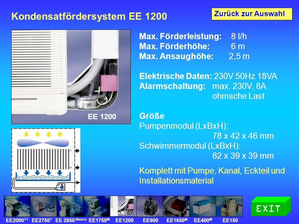 Kondensatfördersystem EE 1200 Max. Förderleistung: 8 l/h Max.
