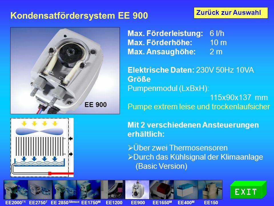 Kondensatfördersystem EE 900 Max. Förderleistung: 6 l/h Max.