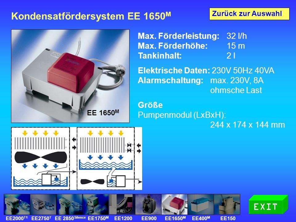 Kondensatfördersystem EE 1650 M Max. Förderleistung: 32 l/h Max.