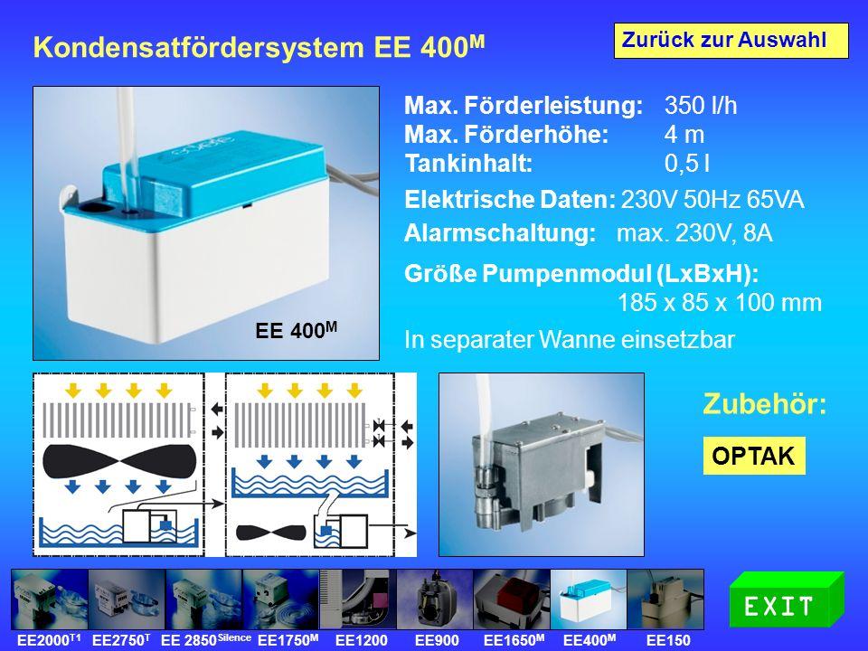 Kondensatfördersystem EE 400 M Max. Förderleistung: 350 l/h Max.