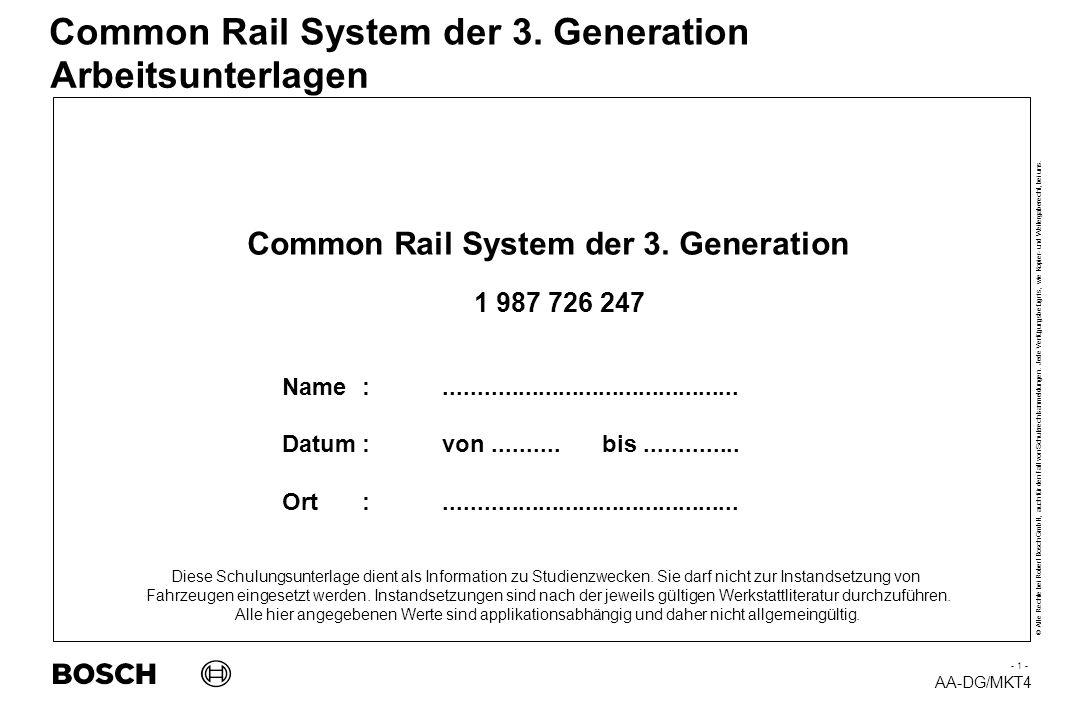 AA-DG/MKT4 © Alle Rechte bei Robert Bosch GmbH, auch für den Fall von Schutzrechtsanmeldungen.