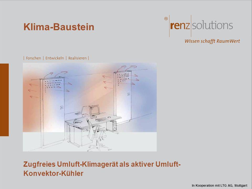 Klima-Baustein Zugfreies Umluft-Klimagerät als aktiver Umluft- Konvektor-Kühler In Kooperation mit LTG AG, Stuttgart
