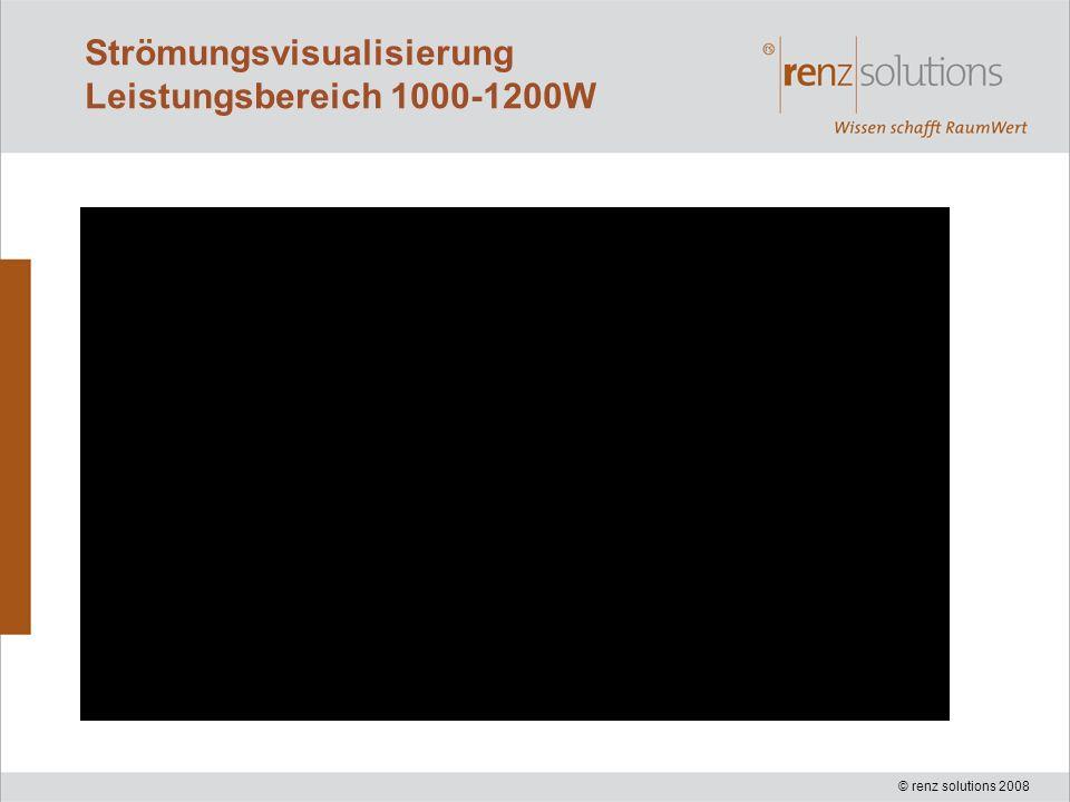 © renz solutions 2008 Strömungsvisualisierung Leistungsbereich 1000-1200W