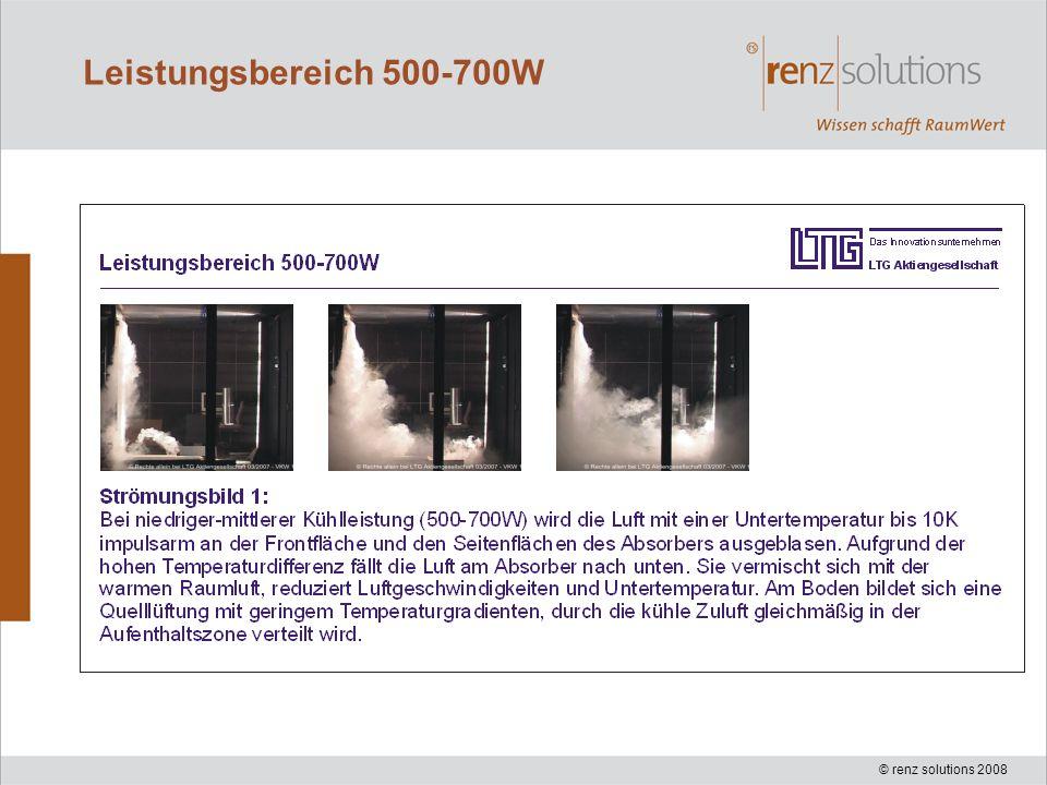 © renz solutions 2008 Leistungsbereich 500-700W