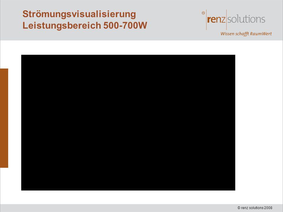 © renz solutions 2008 Strömungsvisualisierung Leistungsbereich 500-700W