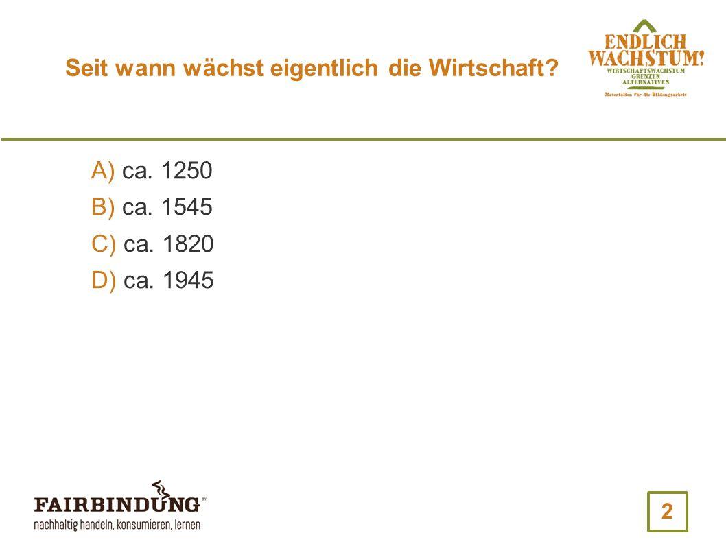 13 Um wieviel Prozent pro Jahr ist das BIP in Deutschland im Durchschnitt in den letzten 10 Jahren gewachsen.