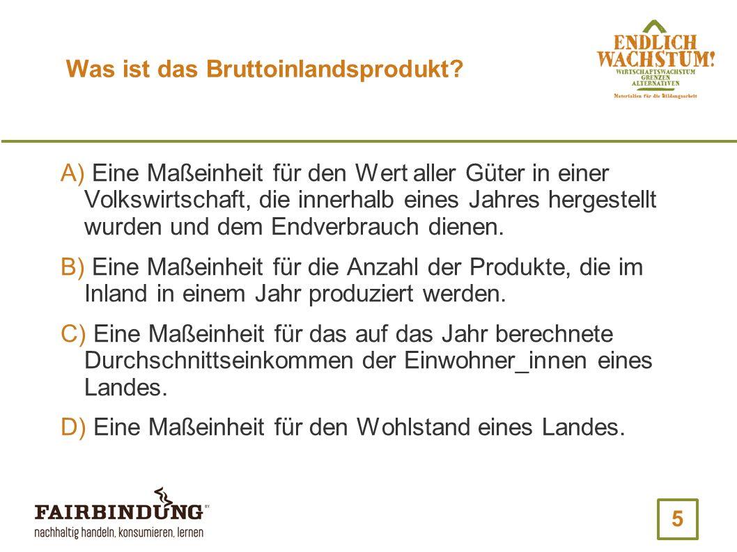 16 Wann wurde das erste Gesetz in Deutschland erlassen, das Wirtschaftswachstum als Staatsziel festschreibt.