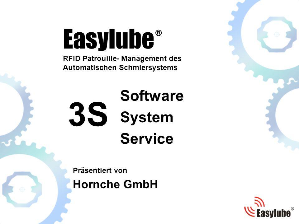 Easylube ® RFID Patrouille- Management des Automatischen Schmiersystems Präsentiert von Hornche GmbH Software System Service 3S