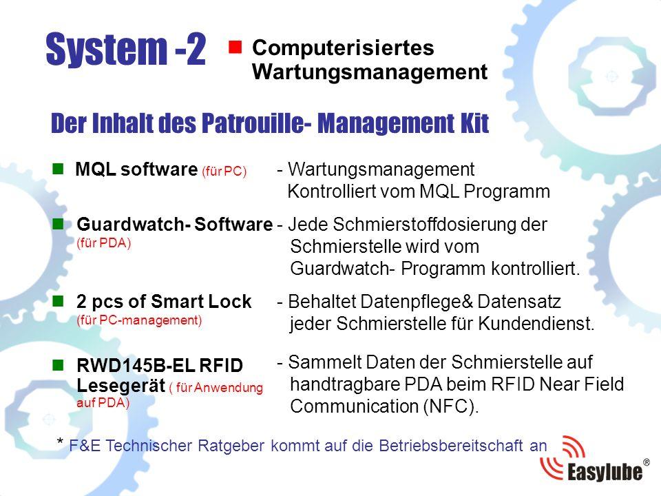 MQL software (für PC) Der Inhalt des Patrouille- Management Kit System -2 Computerisiertes Wartungsmanagement 2 pcs of Smart Lock (für PC-management)