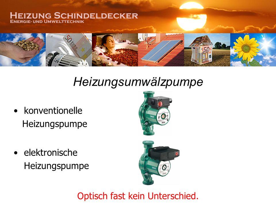 Heizungsumwälzpumpe konventionelle Heizungspumpe elektronische Heizungspumpe Optisch fast kein Unterschied.